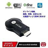 【K&W】 EZCast スマートフォン、タブレットを無線でテレビに映すDLNA,AirPlay,Miracast対応無線HDMIドングル レシーバー  ワイヤレス ディスプレイ USB転送器 HDMI Streaming Media Player【18月保証】