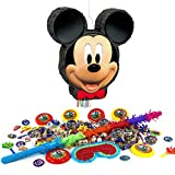Mickey Mouse Pull Piñata Birthday Party Kit - Sweets Favours Blindfold & Buster