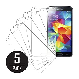 MPERO Collection 5 Pack of Ultra Clear Screen Protectors for Samsung Galaxy S5 / GS5
