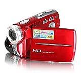 Camcorder, Bestek tragbare HD Max 20,0 Megapixel 1280 * 720P Digital Video Camcorder DV-Kamera 3,0 Zoll TFT-LCD-Bildschirm 16x Digital-Zoom mit micro Aufnahme für Amateure und Kinder (rot)