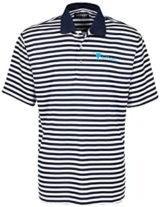 Oxford NCAA Citadel Bulldogs Men's Bar Stripe Golf Polo, Classic Navy/White, X-Large