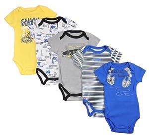 Calvin Klein Infant Boys Royal Blue & Multi Color 5pc Bodysuit Set