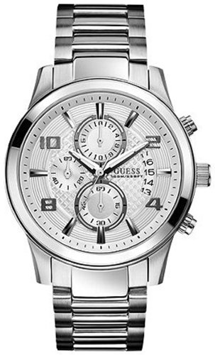 GUESS Men's U0075G3 Masculine Retro Dress Chronograph Stainless Steel Watch