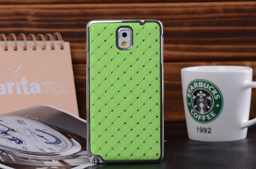Maclogy 2014 Latest Fashion Design Luxury Dazzling Rhinestones Shiny Crystal Diamond Plating Protective Shell Trapped Difficult Cases Samsung Galaxy Note3 Note 3 Iii N9000 N9002 N9005 N9009 And Fashion Chain Crystal Ornaments Color Uv Radiation Gifts (Gre