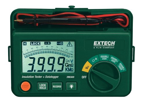 Insulation Tester + Datalogger - Extech - EX-380366 - ISBN:B0012VWK22