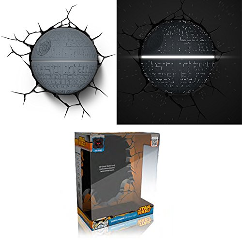 Eurobric 2000 - Lampe Murale 3D Deco Light Star Wars - Death Star - 8414834142362