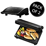 2x George Foreman 19580 7 Portion Entertaining Grill - Black
