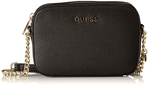 Guess HWISAB-P6412 Isabeau Mini Crossbody Top Zip Borsa a Spalla, Donna, Nero