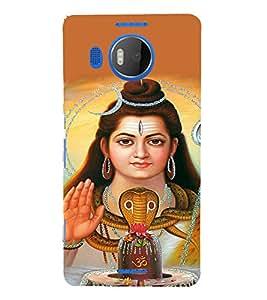 EPICCASE Shiva god Mobile Back Case Cover For Microsoft Lumia 950 XL (Designer Case)