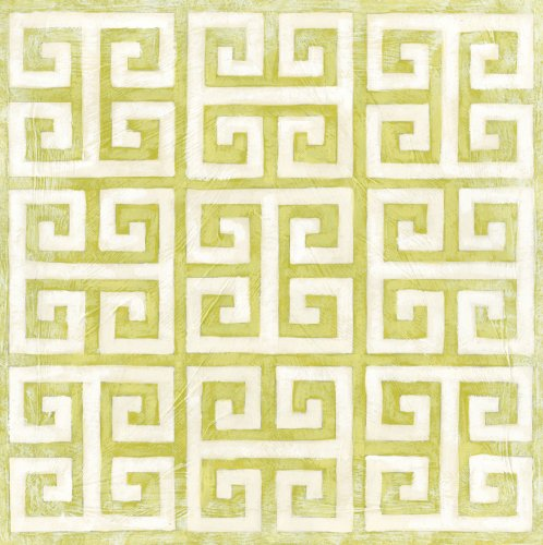 Green Frog Art Modern Symmetry Series Canvas Gallery Wrapped Art, Herb