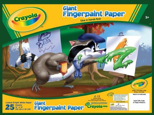 Crayola 99-3405 25 Count Giant Fingerpaint Paper