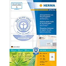 Herma 10825 Étiquettes d'adresse en papier recyclé avec