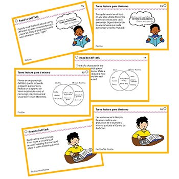 Read to Self Center Task Cards Gr. 2+
