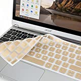 GMYLE Metallic Champagne Gold Silicon Keyboard Cover for Acer 11.6