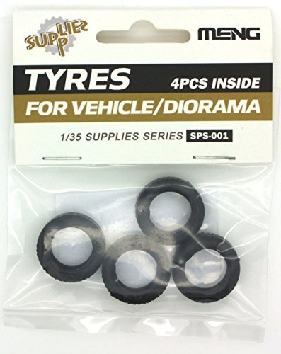 Meng Models Vehicle Rubber Tire, Set of 4, 1/35 Scale