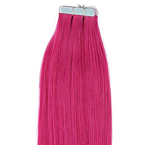 E-forest-hair-7A-Grade-100-Brazilian-Human-remy-Hair-40pc-100g-Silky-Straight-Tape-in-skin-weft-Hair-Extension-10-inch-Pink-Color