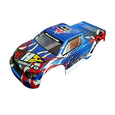 Iron Track Atomik RC Truck Body - Blue for Iron Track Bowie 4WD RC Monster Truck Vehicle