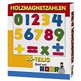 Roba 0021 - Holzmagnetzahlen 35teilig von roba Baumann
