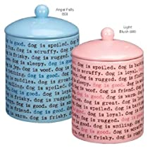 Dogism Treat Canister Color: Angel Falls