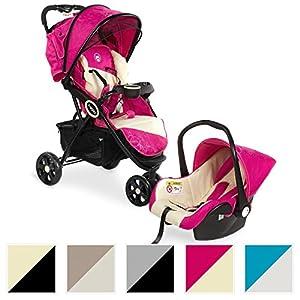 Froggy® 2in1 Kombi-Kinderwagen mit Autositz DINGO SET Buggy Sportwagen Babywagen Liegebuggy diverse Farben