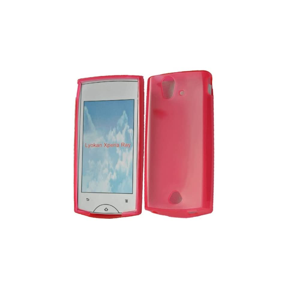 Mobile Palace  Pink Gel case cover pouch holster for Sony ericsson