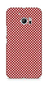 Amez designer printed 3d premium high quality back case cover for Htc One M10 (Pattern Red 2)