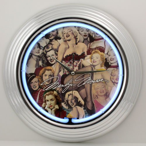 Marilyn Monroe Collage Neon Clock