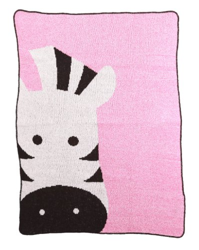 Pink Zebra Baby Blanket front-178056