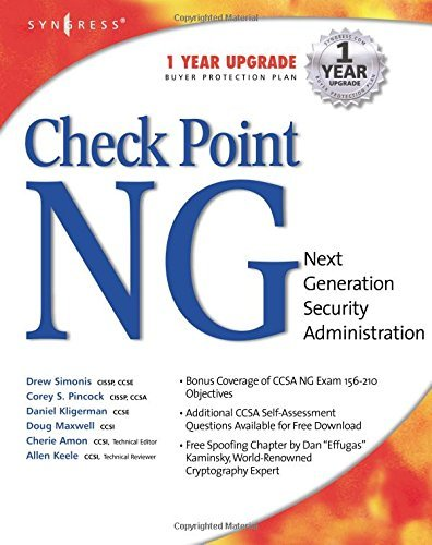 Check Point Next Generation Security Administration by Cherie Amon (2002-03-31)