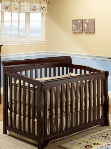 Sorelle Florence Crib with Mini Rail, Espresso - 1