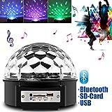Besmall 10W RGB LED USB Mp3 Discokugel Bluetooth Licht mit Fernbedienung für Ferien DJ Disco Ballsaal KTV Stab Stadium Club Beleuchtung Projektor Kristall Magic Ball Partylicht