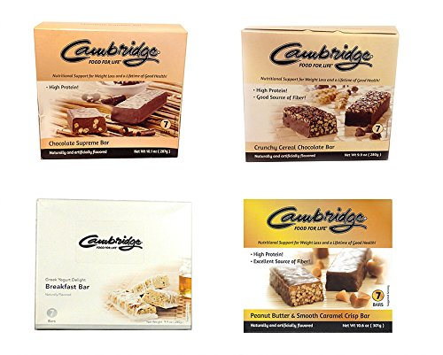 Cambridge Diet Food For Life Nutrition Bar Bundle Case of 8 (Cambridge Beauty Chocolate compare prices)