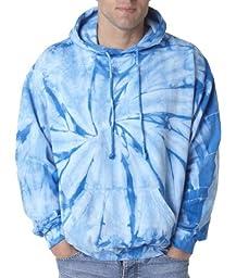 tie dye Adult Tie-Dyed Spider Blended Hoodie - Baby Blue - 3XL