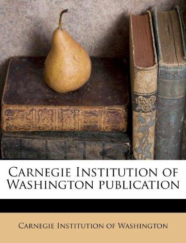 Carnegie Institution of Washington publication Volume 306