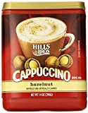 HILLS BROS CAPPUCCINO HAZELNUT DRINK MIX 396g TUB AMERICAN