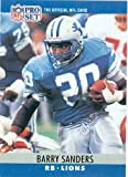 Barry Sanders football card 1990 Pro Set rookie card (Detroit Lions) #102