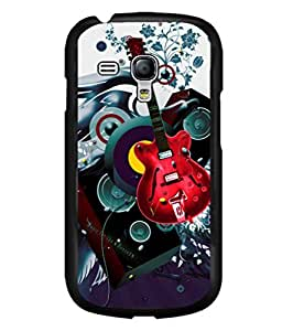 printtech Guitar Music Abstract Back Case Cover for Samsung Galaxy S3 Mini::Samsung Galaxy S3 Mini i8190