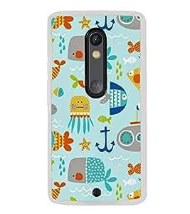 Cute Pattern 2D Hard Polycarbonate Designer Back Case Cover for Motorola Moto X Play