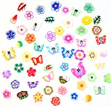 ZINK COLOR 3D Nail Art FIMO FLOWER set 12 bags with free nail glue polymer clay