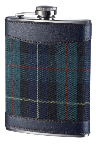 Premier Housewares Tartan Hip Flask, 8 oz, Green