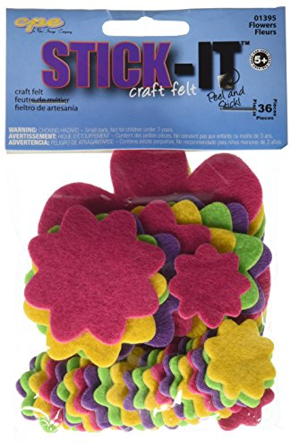 Stick It Felt Shapes 36/Pkg-Flowers - 1