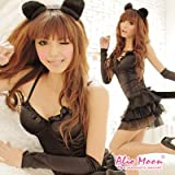 <アニマル>もこもこシッポ付☆黒猫ドレス☆猫耳でキュートスタイル☆ハロウィン☆イベント☆