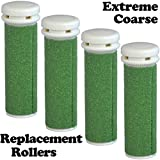 The Pedi Store EXTREME Coarse Micro Mineral Replacement Rollers Compatible with Emjoi Micro-Pedi Callous Remover for Extremely Rough and Tough Calluses (4 pack)