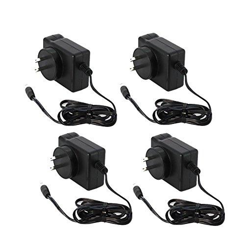 4-Pack 12V 1,500mA Power Supply for Surveillance DVR Camera (Zmodo Power Supply compare prices)