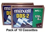Pack of 10 Maxell 400385 DDS2 4.0GB 120m Data Cartridges