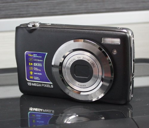 For Sale EDEALLINE 15.0MP 2.7TFT Digital Camera DC-1529 5X Optical Zoom,4X Digital Zoom - Black