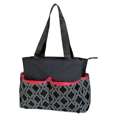 Baby Essentials 5-in-1 Diaper Bag - Black/white