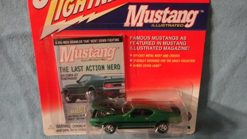JOHNNY LIGHTNING 1:64 SCALE MUSTANG ILLUSTRATED GREEN 1971 MACH 1 DIE-CAST COLLECTIBLE - 1