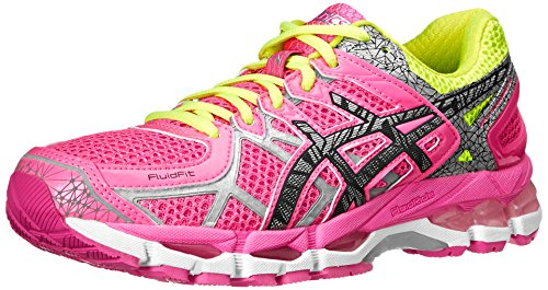ASICS Women's Gel-Kayano 21 Lite-Show Running Shoe,Hot Pink/Lite/Safety Yellow,9.5 M US