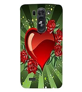 ColourCraft Love Heart Design Back Case Cover for LG G3 S